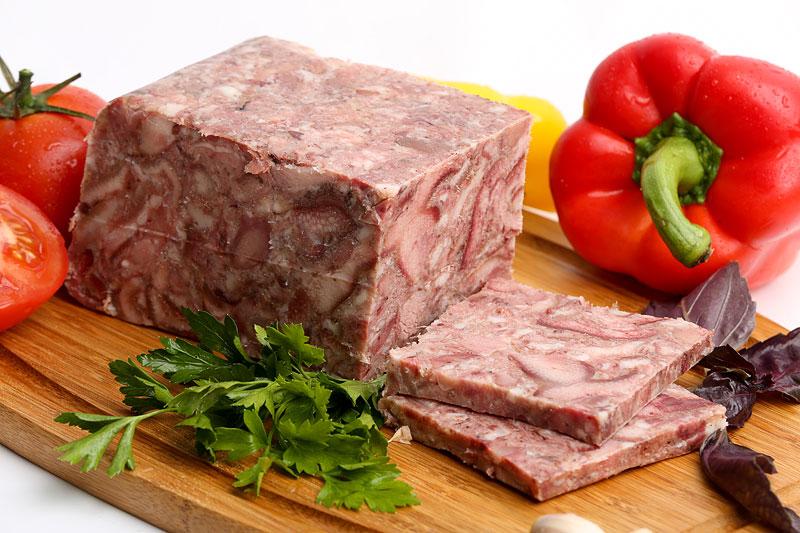 Зельц деревенский из мяса голов