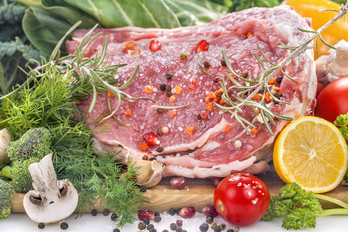 сырое мясо свинина